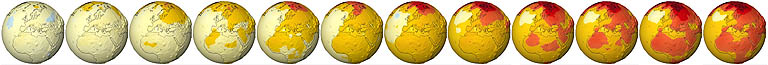 Mögliche zukünftige Temperaturänderungen in den nächsten 100 Jahren