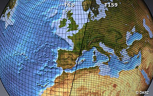 Model grids with a resolution of 180 and 80 km