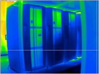 Wärmebildaufnahme des Hochleistungsrechner Blizzard vor Einhausung