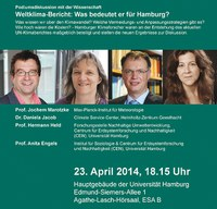 IPCC-Podiumsdiskussion am 23. April 2014