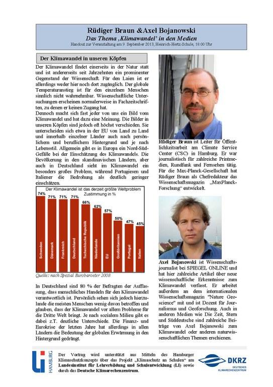 Vortrag: Klimawandel in den Medien