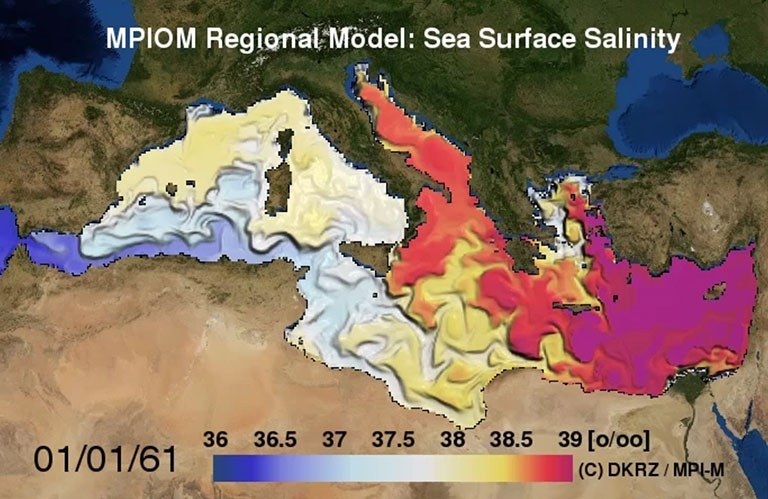 Regionales Ozeanmodell - Mittelmeer