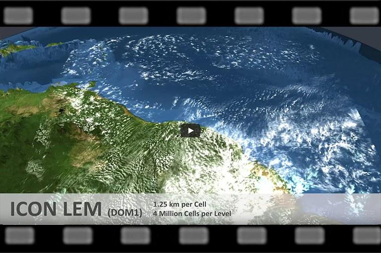 Globale sturmauflösende Simulationen mit dem Klimamodell ICON LEM