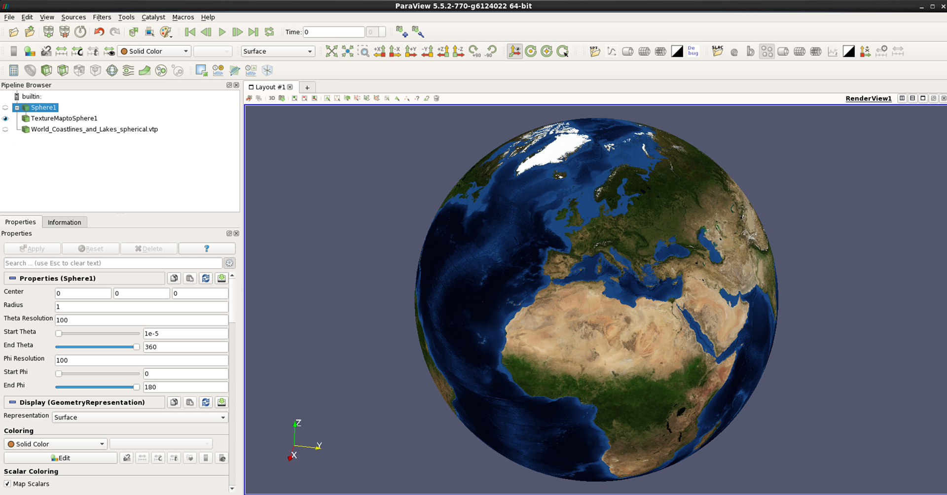 Using An Earth Texture As Background User Portal