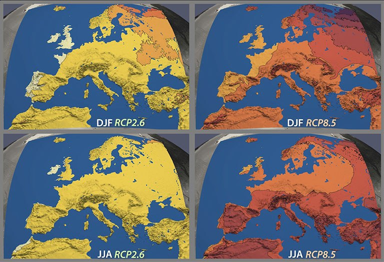 Regional Climate Projections for Europe: EURO-CORDEX