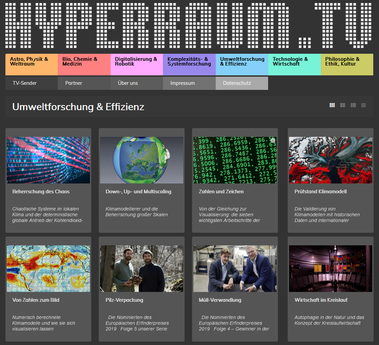 Video series on climate modeling on HYPERRAUM.TV